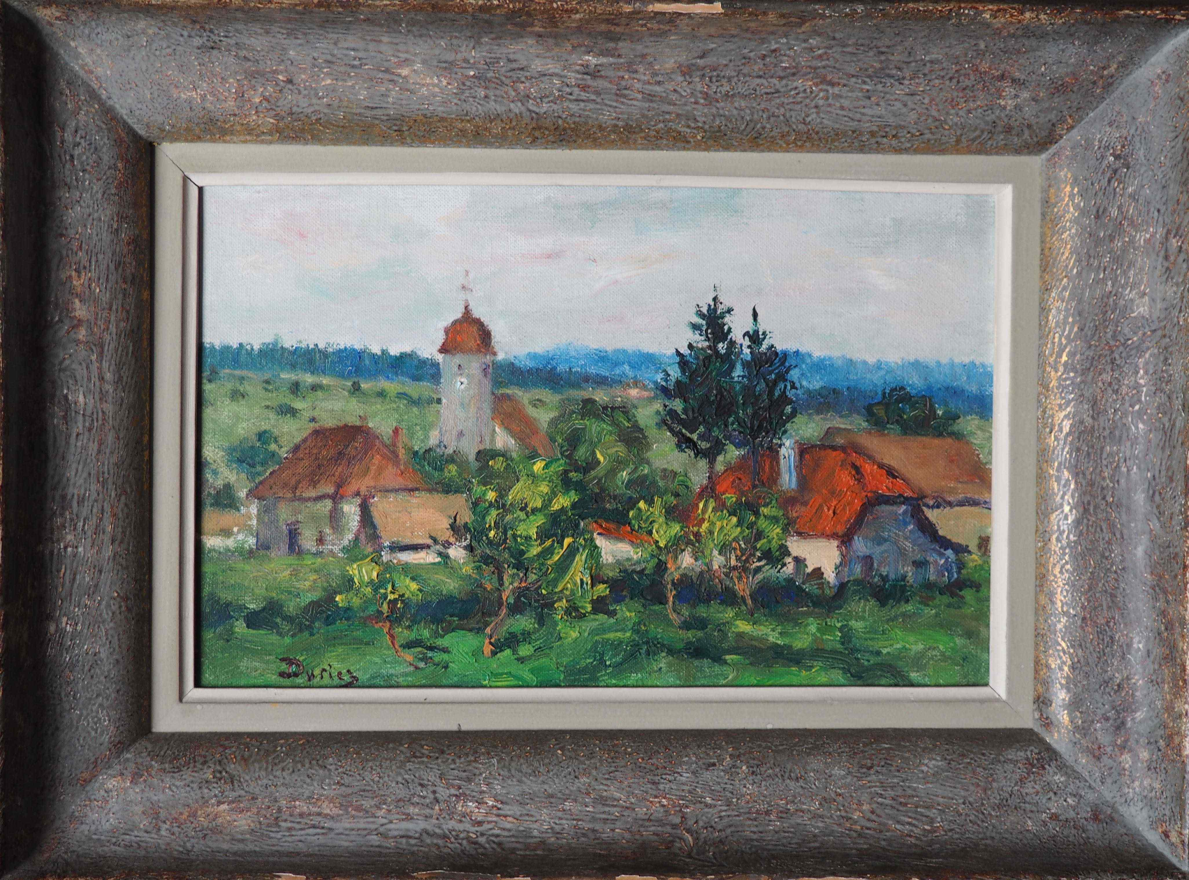 Andelot Jura by Julien Duriez, olio su tela, XX secolo