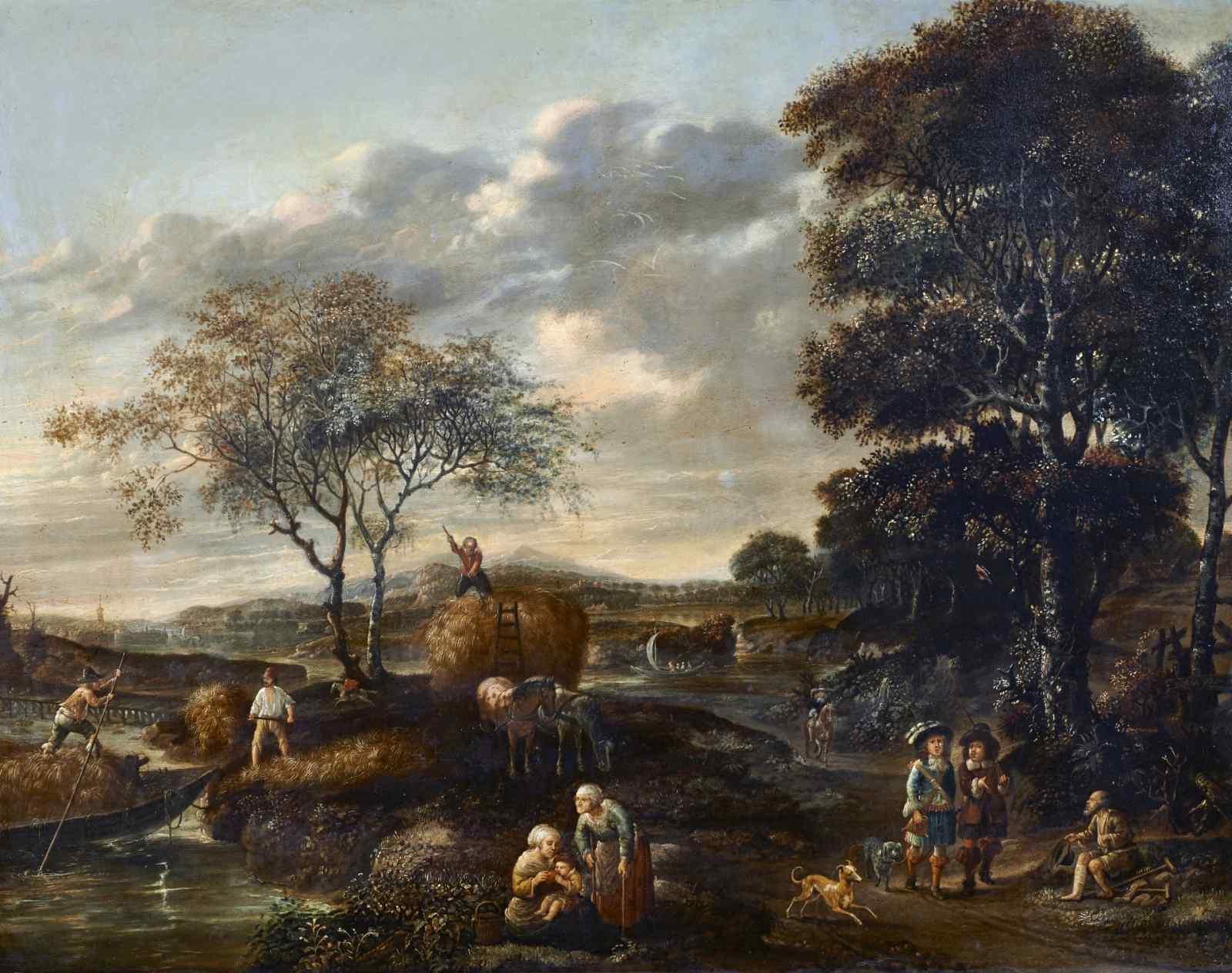Paesaggio en plen air firmato J. Z. Blijhooft fecit 1668
