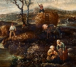 Paesaggio en plen air firmato J. Z. Blijhooft fecit 1668-2