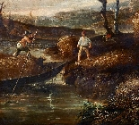 Paesaggio en plen air firmato J. Z. Blijhooft fecit 1668-4