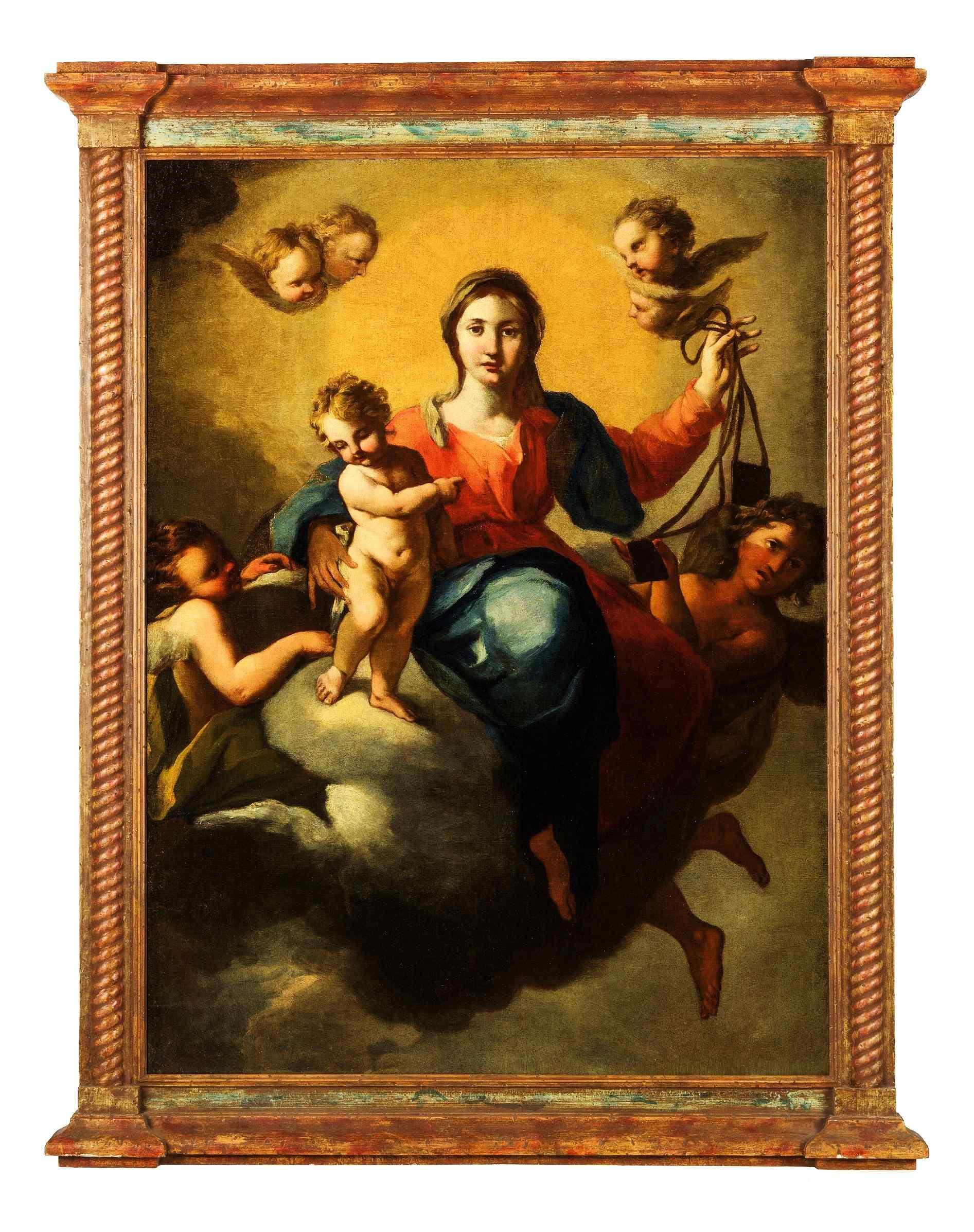 Madone en gloire avec l'Enfant et les Anges