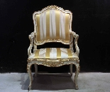 Lacquered and gilded armchair, Marche, Louis XV-1