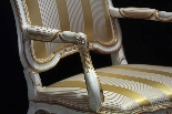 Lacquered and gilded armchair, Marche, Louis XV-3