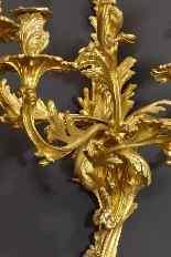 Paire de Grandes Appliques Louis XV XIXème-3