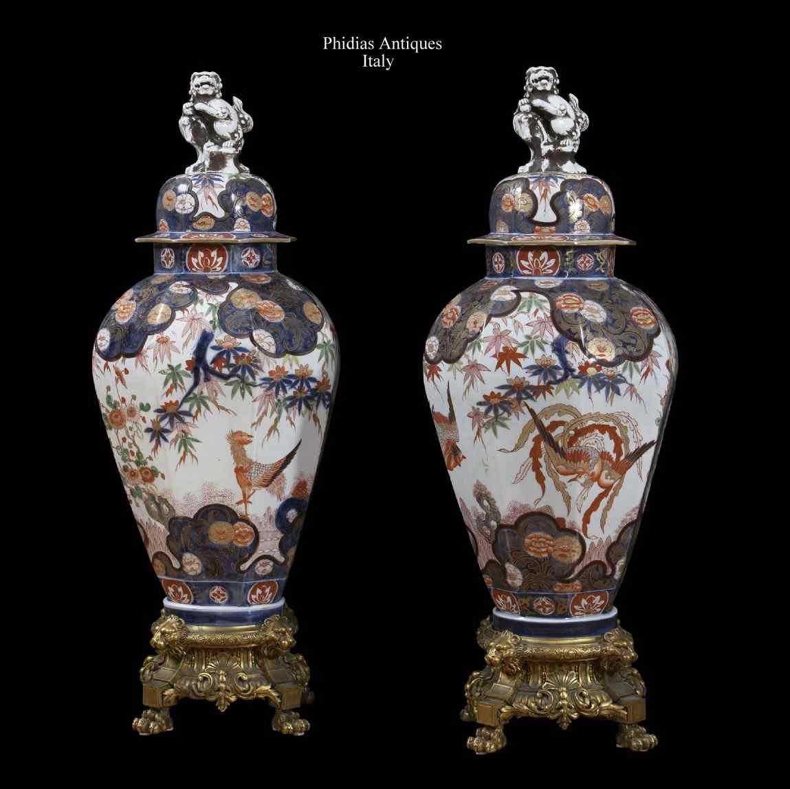 Coppia di antichi vasi imari anticswiss for Vasi antichi